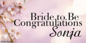 Congratulations Bride To Be