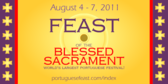 Feast of the Blessed Sacrament