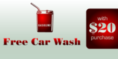 Free Car Wash With $20 Purchase