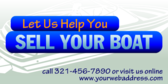 Let Us Help You Sell Your Boat