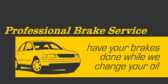 Brake Service with Oil Change