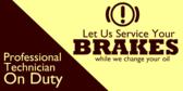 automotive brake service signs