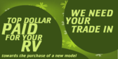 RV Trade Ins, Top Dollar Paid