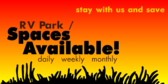 RV Park Spots Available