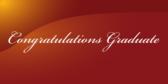 Classy Congratulations Graduate In Cursive Banner