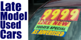 Late Model Used Cars With Guarantee