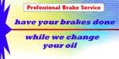 Oil Change Brake Service