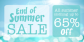 clearance sale end of Summer banner