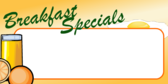 Breakfast Specials With Insert Area