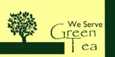 We Serve Green Tea