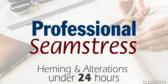Professional Seamstress On Staff