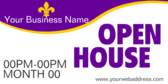 Open House Generic Company and Time