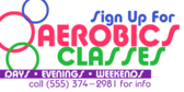 Aerobics Class Sign Up
