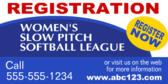 Women's Slow Pitch Softball