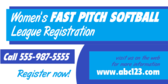 Women's Fast Pitch Softball