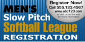 Men's Slow Pitch Softball