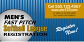 Men's Fast Pitch Soft Ball