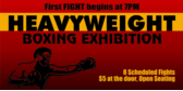Heavyweight Boxing Exhibition Tonight