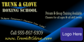 Boxing School Blue Glow