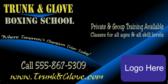 Boxing School Blue Glow