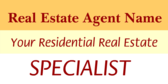 Generic Residential Real Estate Specialist