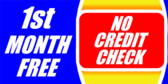 First Month Free No Credit Check
