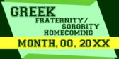 Generic Greek Homecoming Event