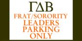 Frat and Sorority Parking