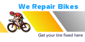 We Repair Bikes Get Your Tire Fixed Here