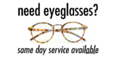 Same Day Service Eyeglasses