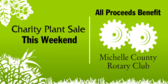 Charity Plant Sale This Weekend All Proceeds Benef