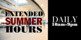 Mall Summer Hours