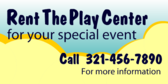 Rent The Play Center For Your Special Event