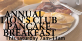 Annual Pancake Breakfast