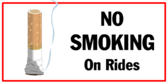 No Smoking on Rides