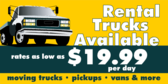 Rental Trucks Available