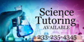 Science Tutoring Available