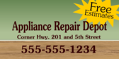 Appliance Repair Store