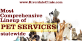 Most Comprehensive Lineup of Pet Services