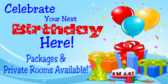 Celeberate Your Birthday Party Here