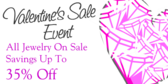 Valentine Sales Event All Jewelry On Sale