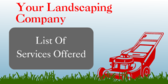 Your Landscaping Company