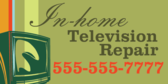 In-home Television Repair
