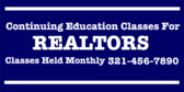 Continuing Education for Realtors Page Curl
