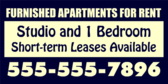Furnished Studio Apartments For Rent