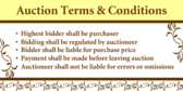 Auction Terms and Rules