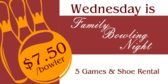 Family Bowling Night event