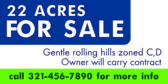 22 Acres For Sale