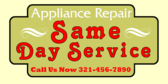 Appliance Repair Same Day Service
