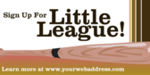 Sign Up For Little League